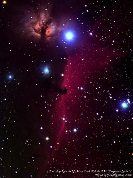 輝線星雲IC434 & 暗黒星雲B33『馬頭星雲』